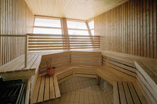 Relaxation area, sauna