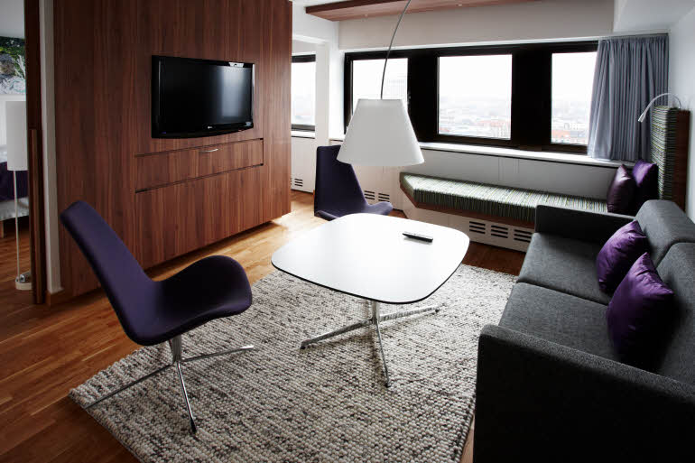 Scandic Copenhagen, suite living room