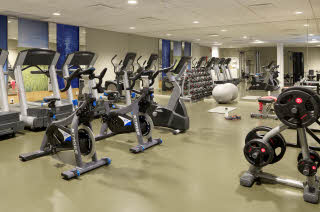 Gym with equipment