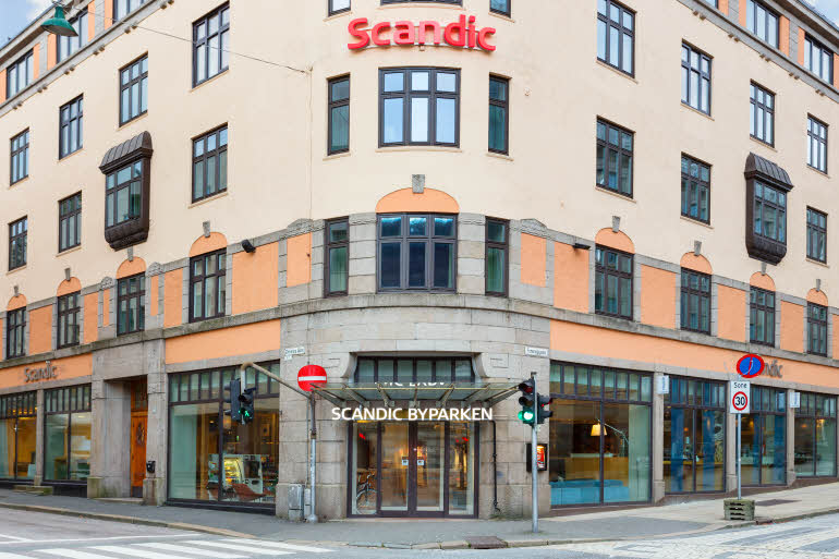 Facade of Scandic Byparken in Bergen