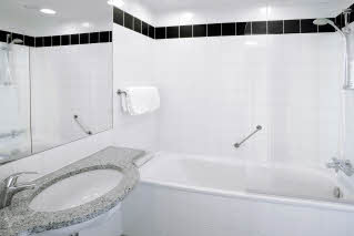 Scandic Olympic, bathroom superior extra room