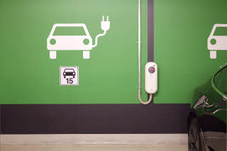 parking space with electric charging at scandic berlin potsdamer platz