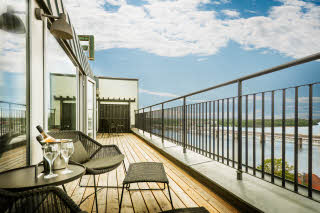 terrace in presidential suite at scandic foresta in stockholm sweden