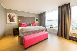 Scandic Nidelven, Trondheim, junior suite, bed