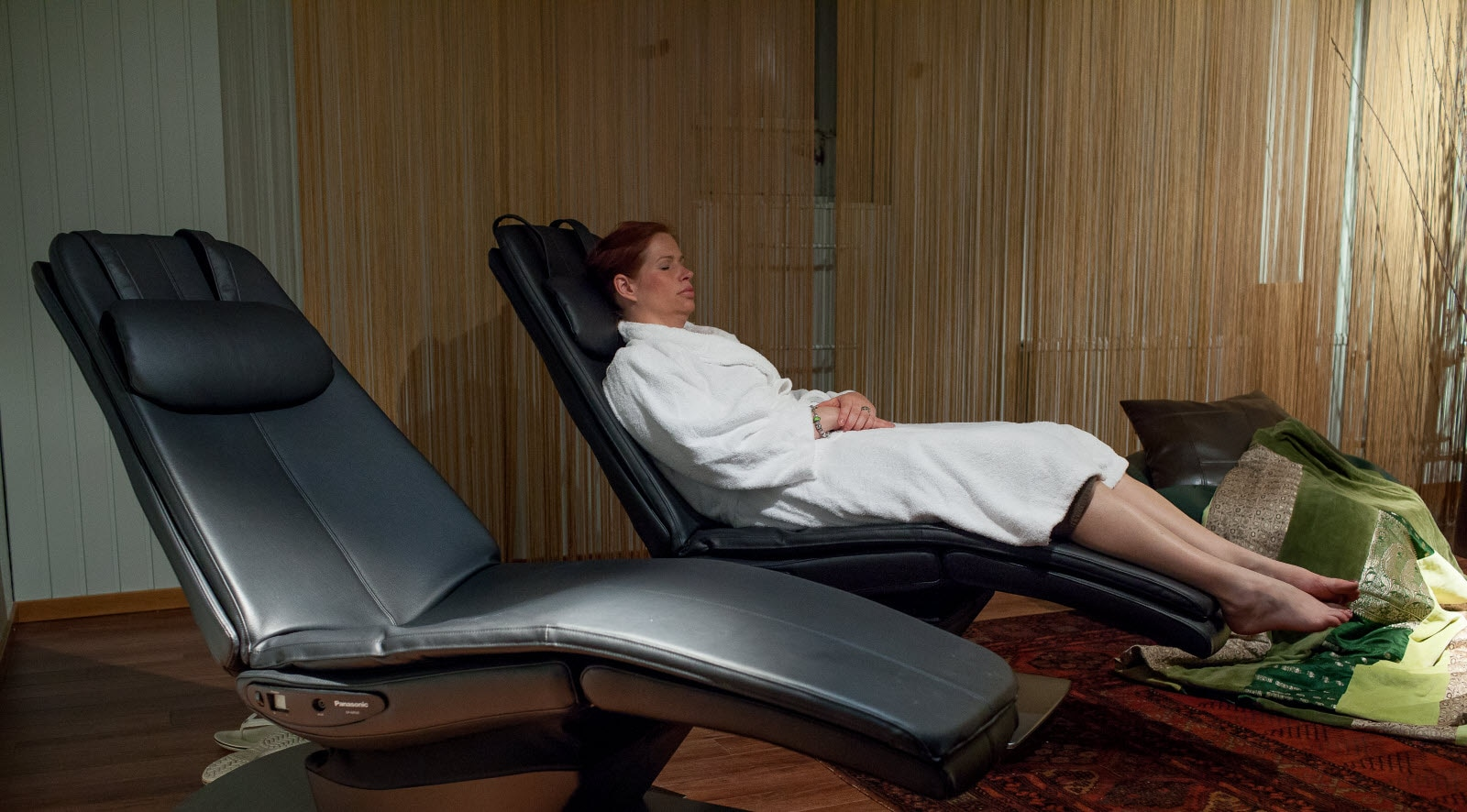 Scandic Skogshojd, SPA, relax chair, Lina