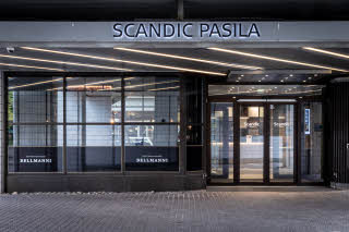 exterior at scandic pasila in helsinki finland