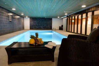 indoor pool at scandic borlange in sweden