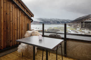 balcony in master suite at scandic voss in norway