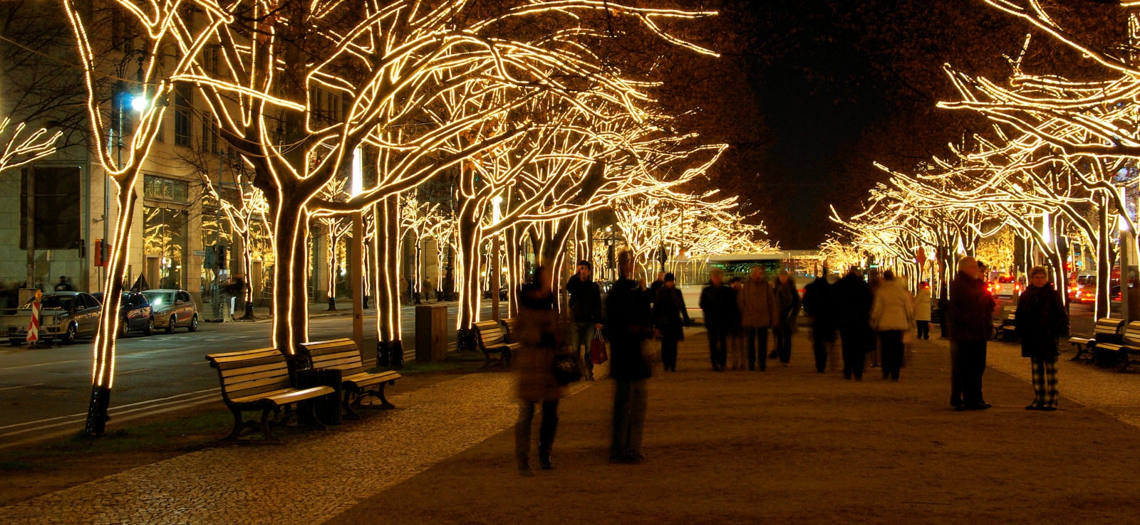 Berlin under the Linden trees christmas