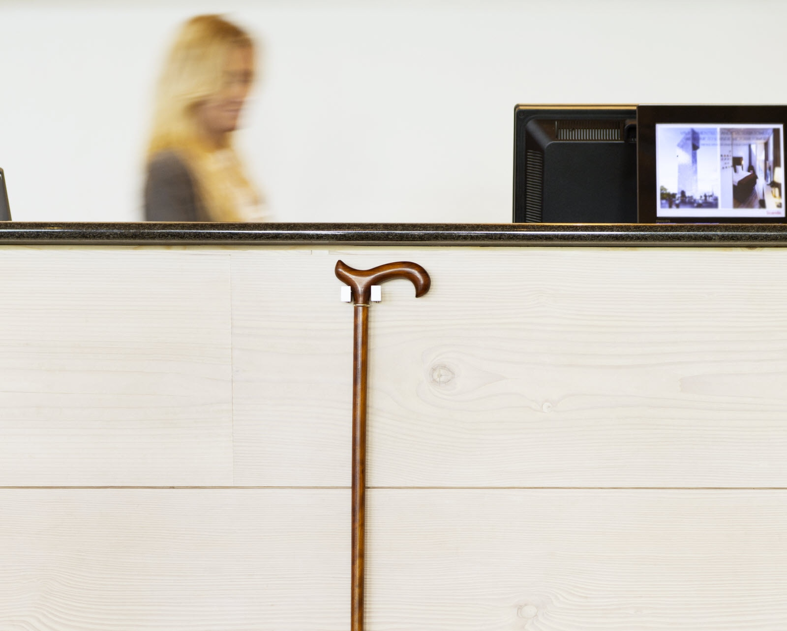 Scandic, accessibility, availability, accessibility standard, front desk, stick holder, cane holder