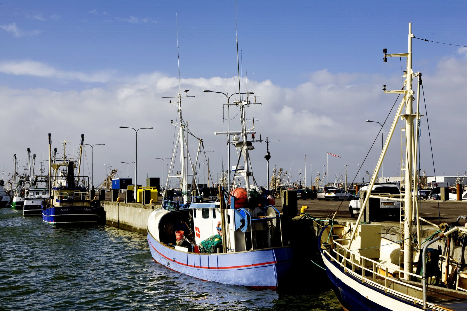 Fisher boats in Esbjerg