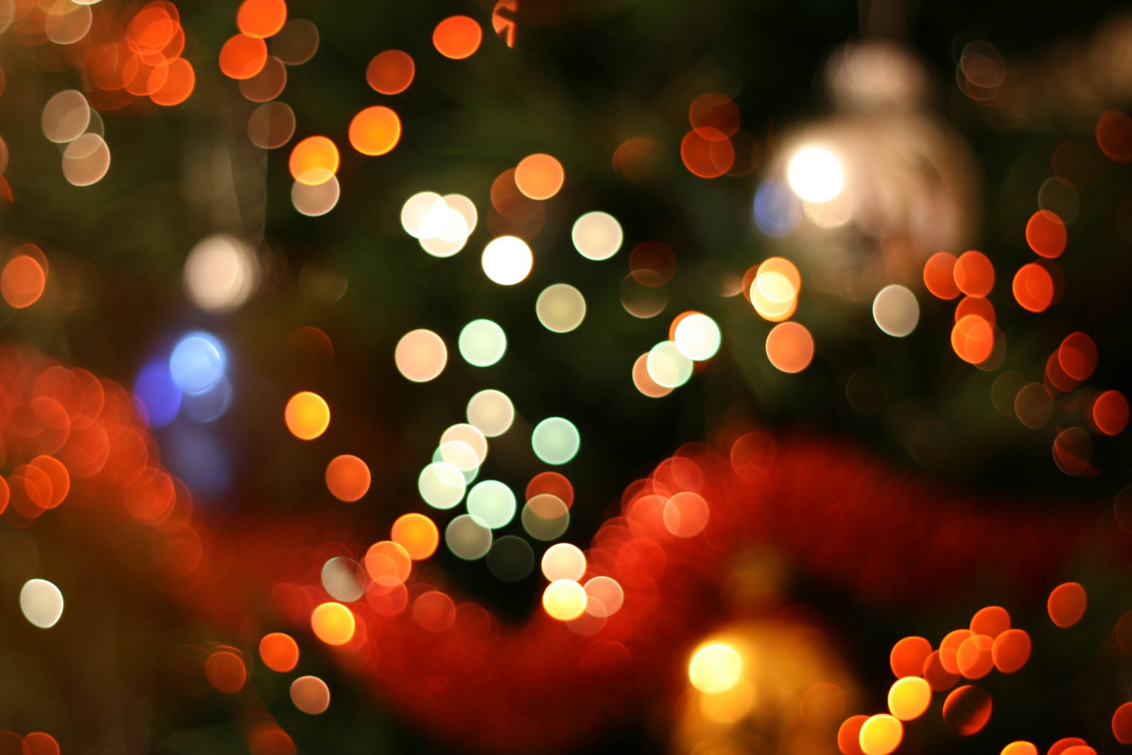 Christmas, Lights, Blurry