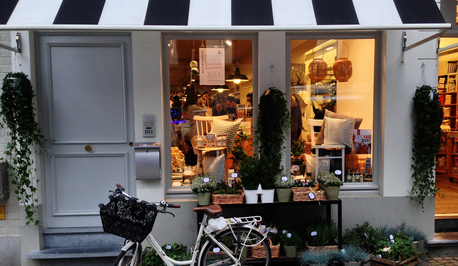 Shop  with bike in Brussels, Belgium