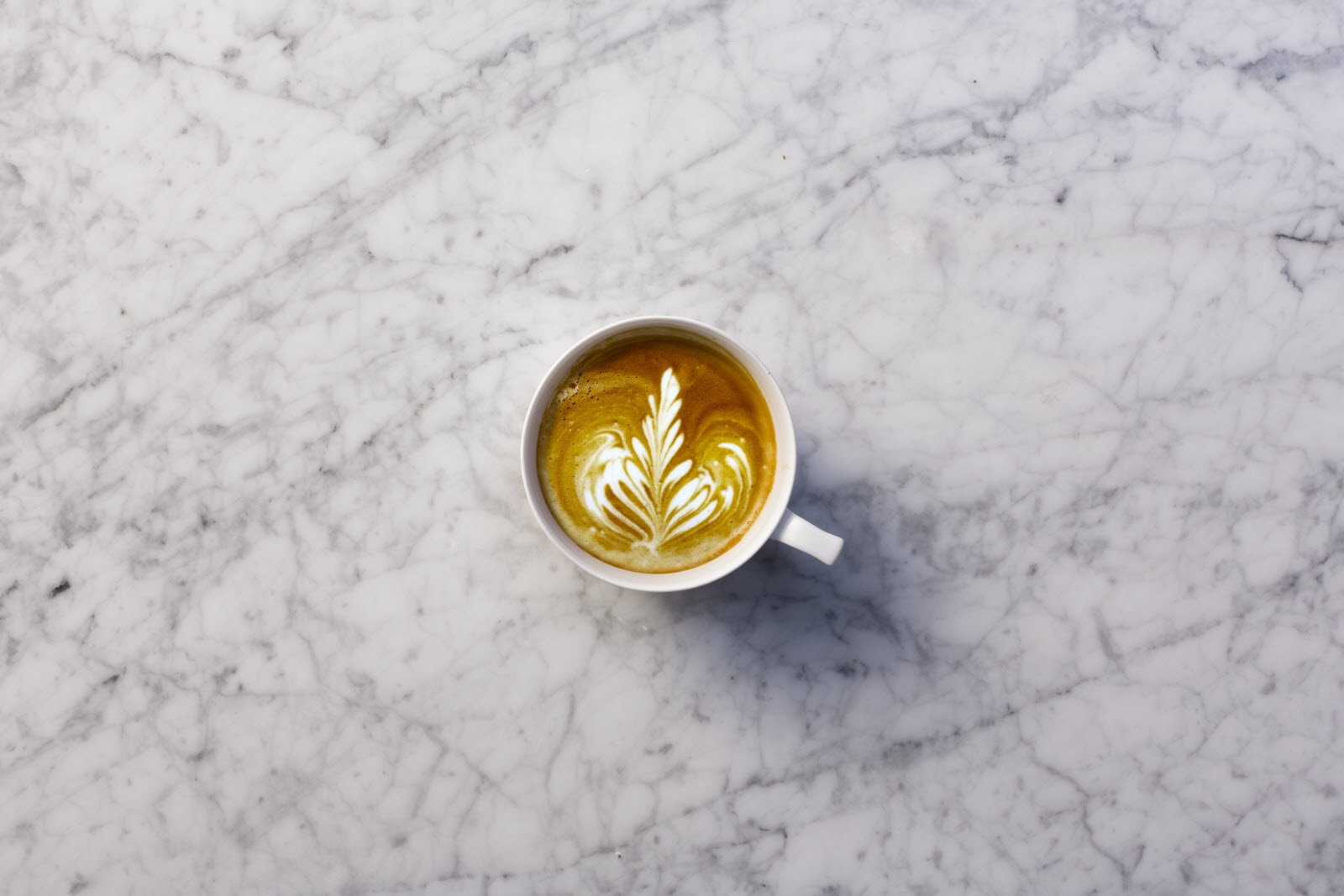 Coffee with latte art