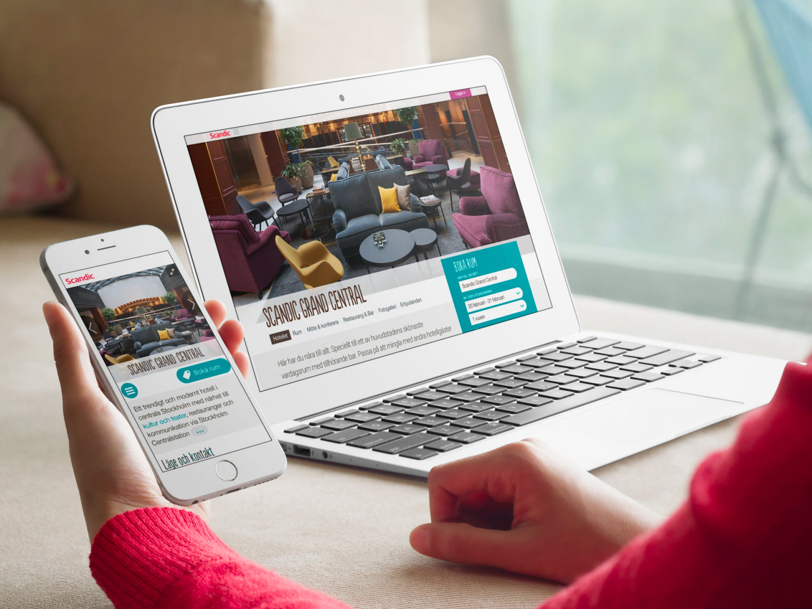 Scandic´s new website works on all devices. Mobile and desktop.