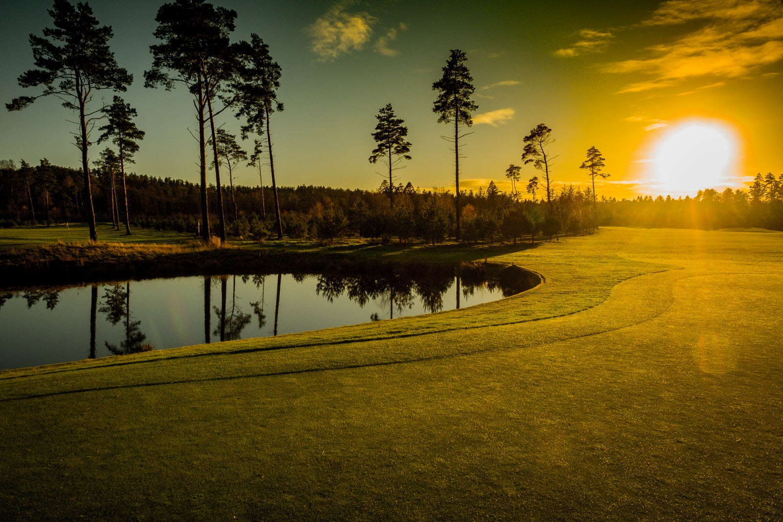 Golf course in Silkeborg