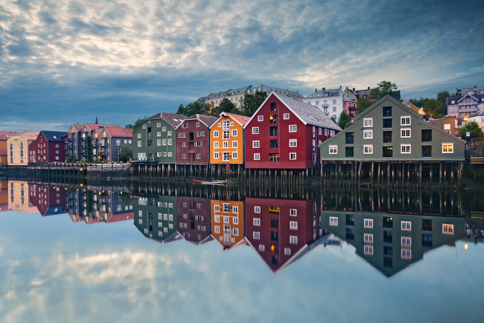 Houses, Row, Harbor