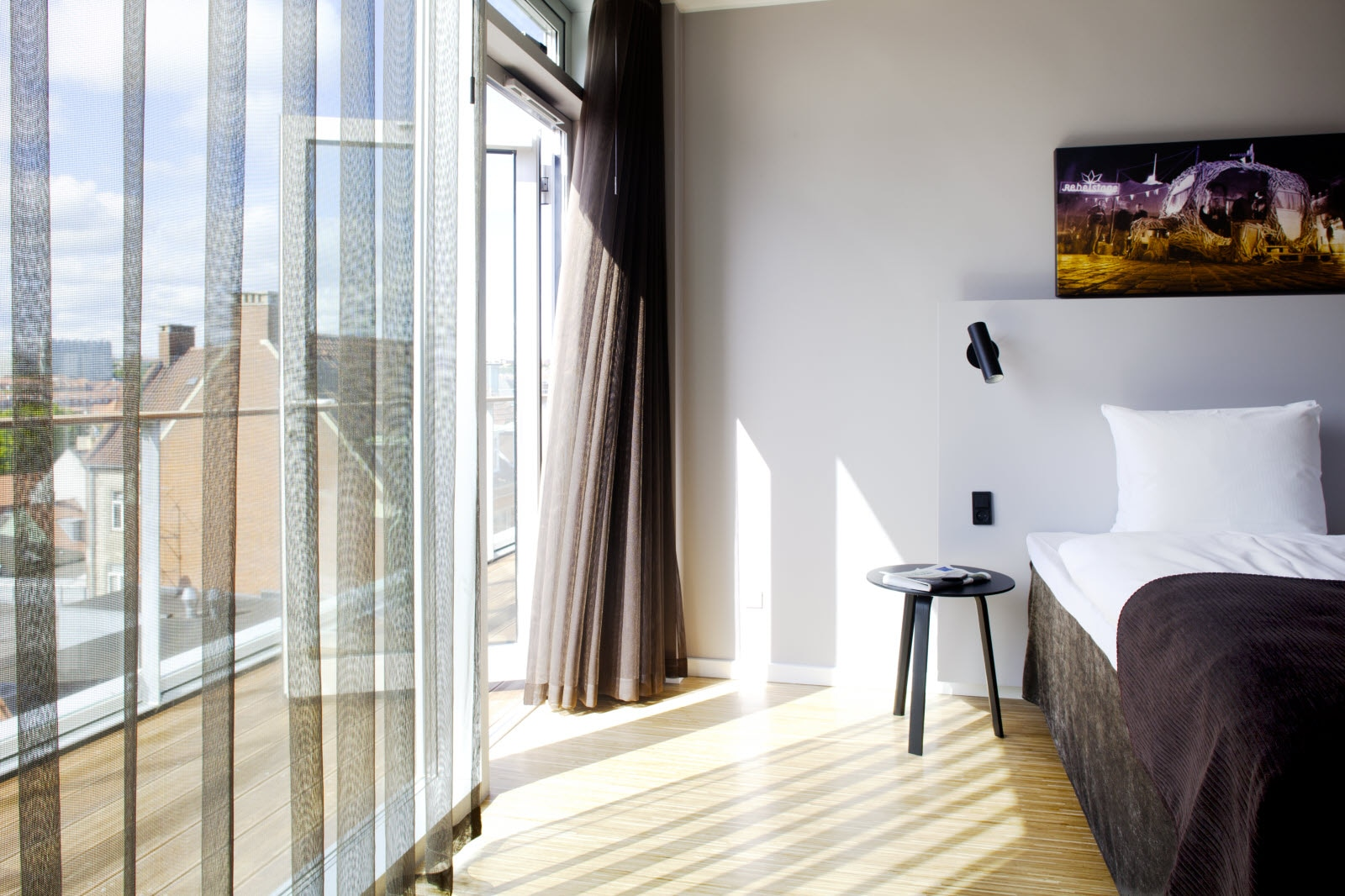 Scandic Aarhus City, suite, view, bed